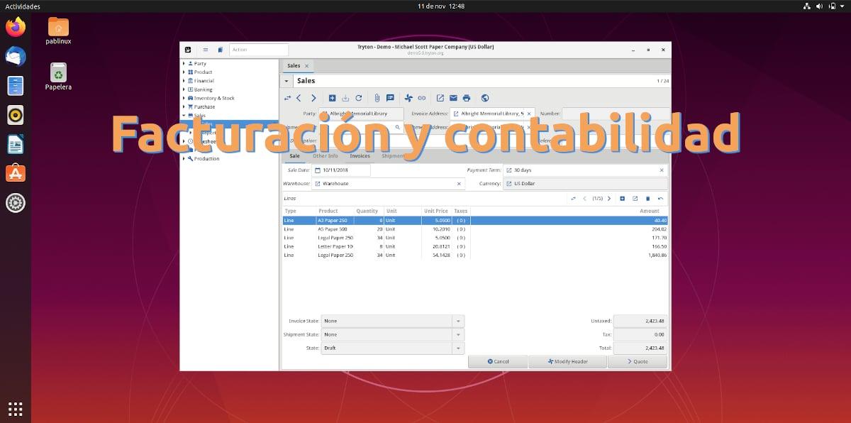 Facturación y contabilidad en Ubuntu