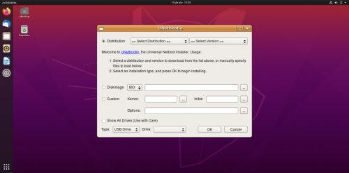 UNetbootin en Ubuntu 20.04
