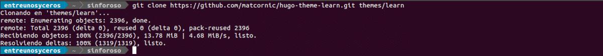descargar un theme para Hugo