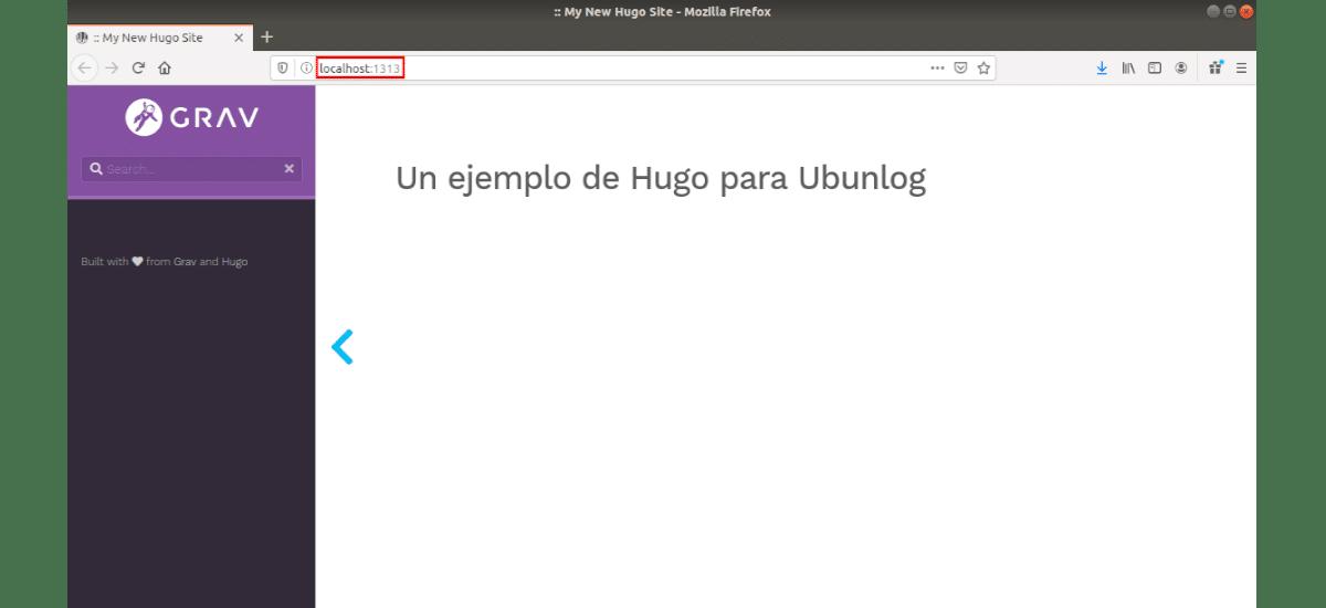 Página web en el navegador web
