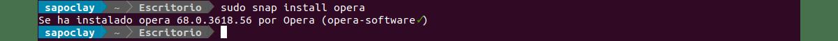 instalador Opera snap