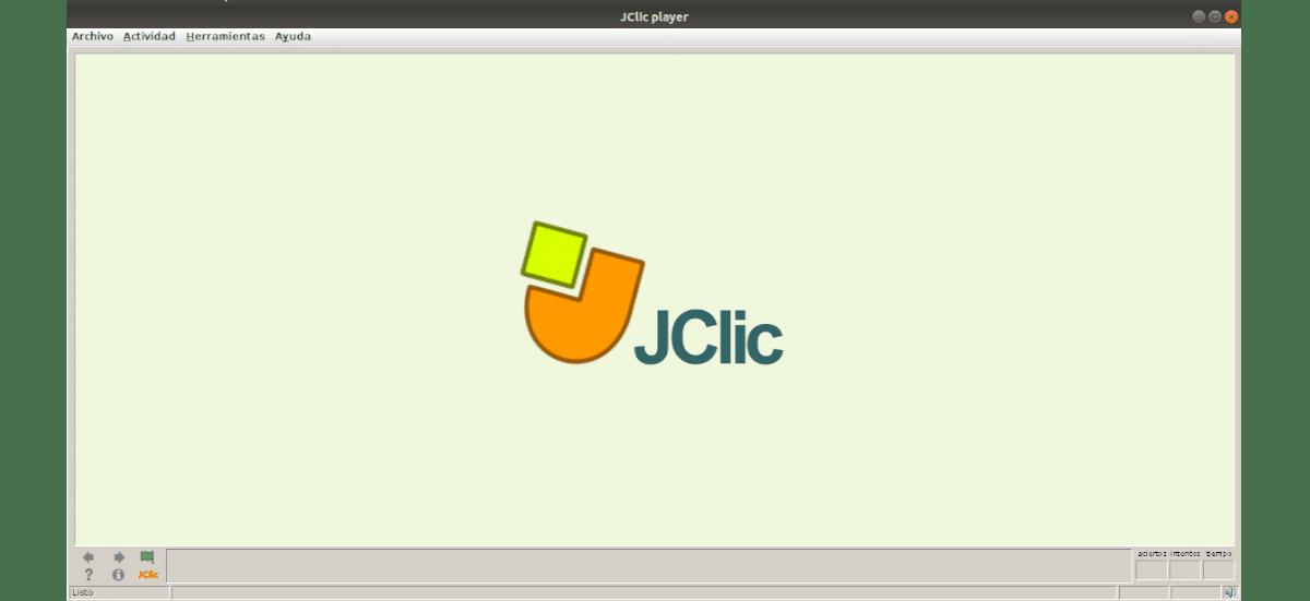 interfaz de JClic