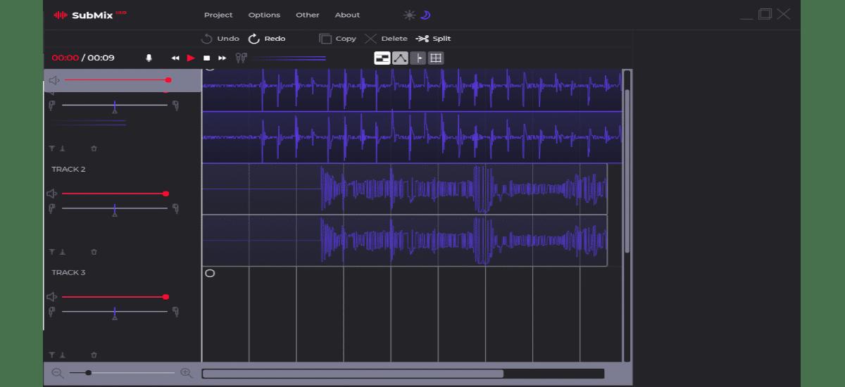 pistas en submix audio editor