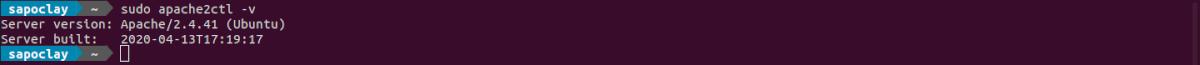 versión del servidor web Apache instalada en Ubuntu 20.04