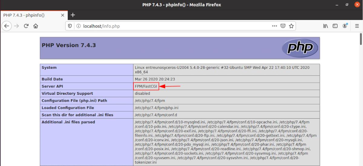 FPM-FastCGI enable