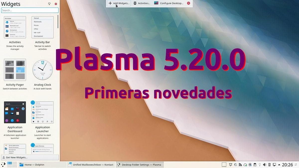 KDE Plasma 5.20 a la vista