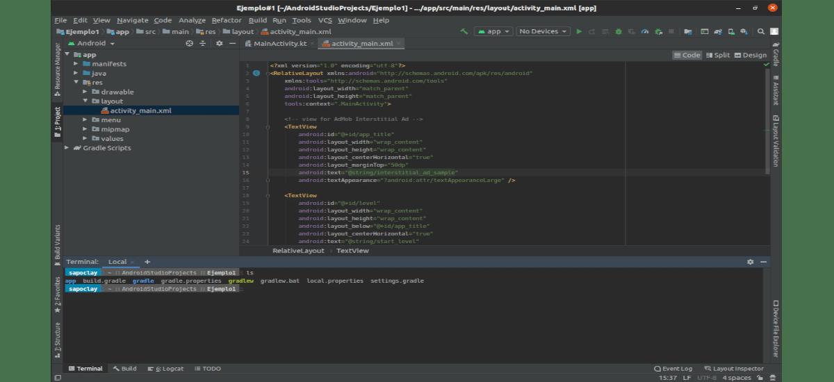 código en Android Studio 4.0