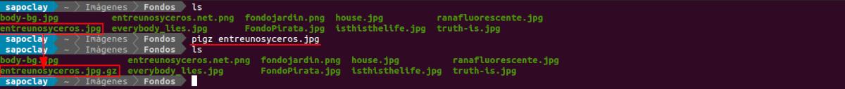 comprimir archivo simple