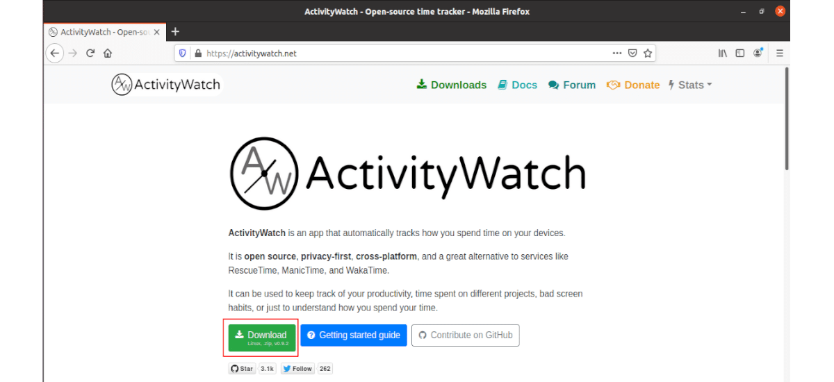 descarga activityWatch