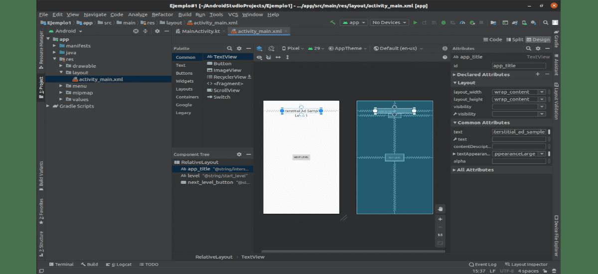 opción de diseño en Android Studio 4.0