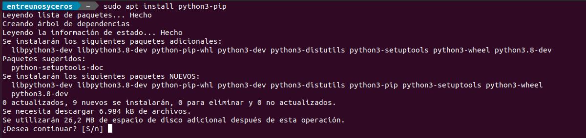 instalación python3-pip