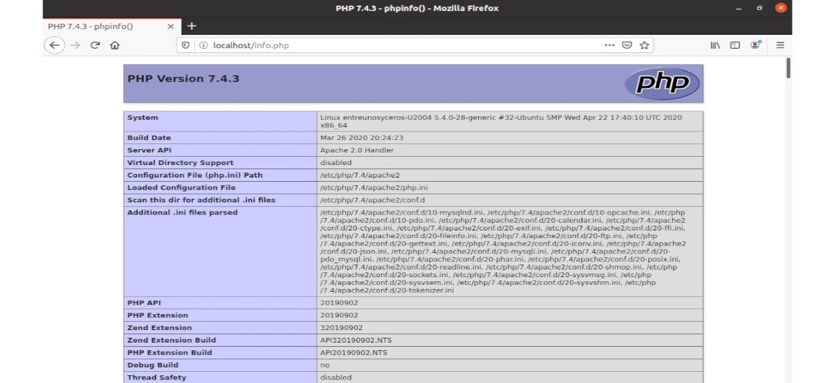localhost phpinfo.php