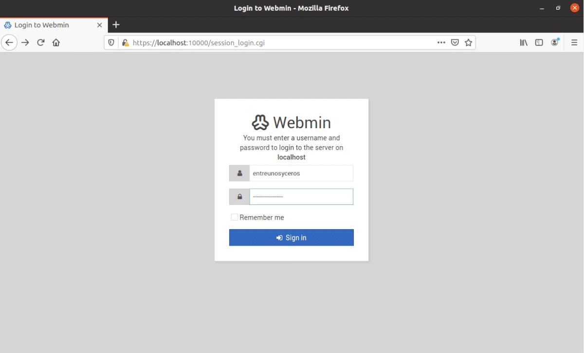 pantalla de login