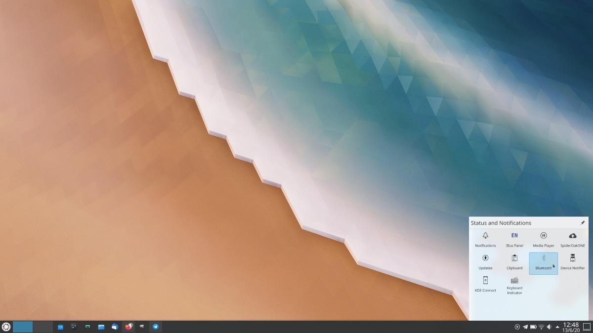 Bandeja del sistema en KDE Plasma 5.20