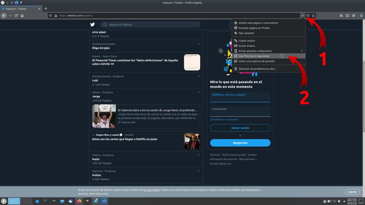 Instalar app en Firefox