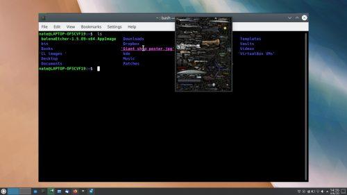 Konsole muestra imágenes en KDE Plasma 5.20