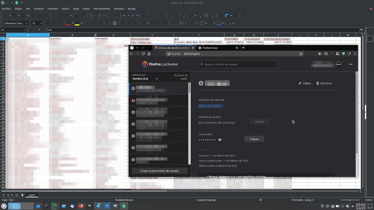 Lockwise y backup de contraseñas de Firefox 77