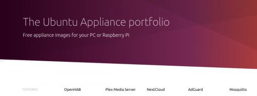 The Ubuntu Appliance portfolio