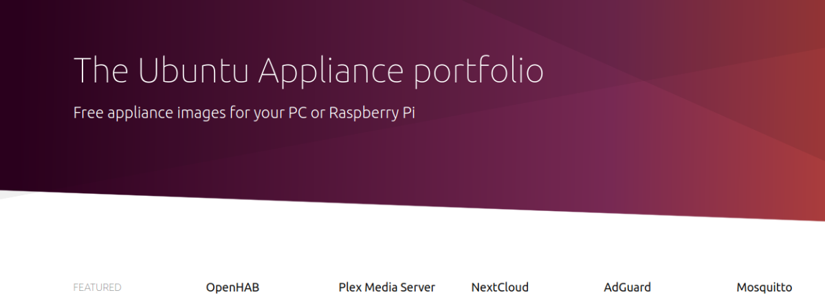 The Ubuntu Appliance portfolio
