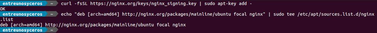 añadir el repositorio para nginx