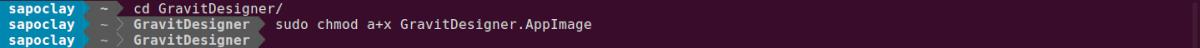 dar permisos de ejecución al archivo AppImage