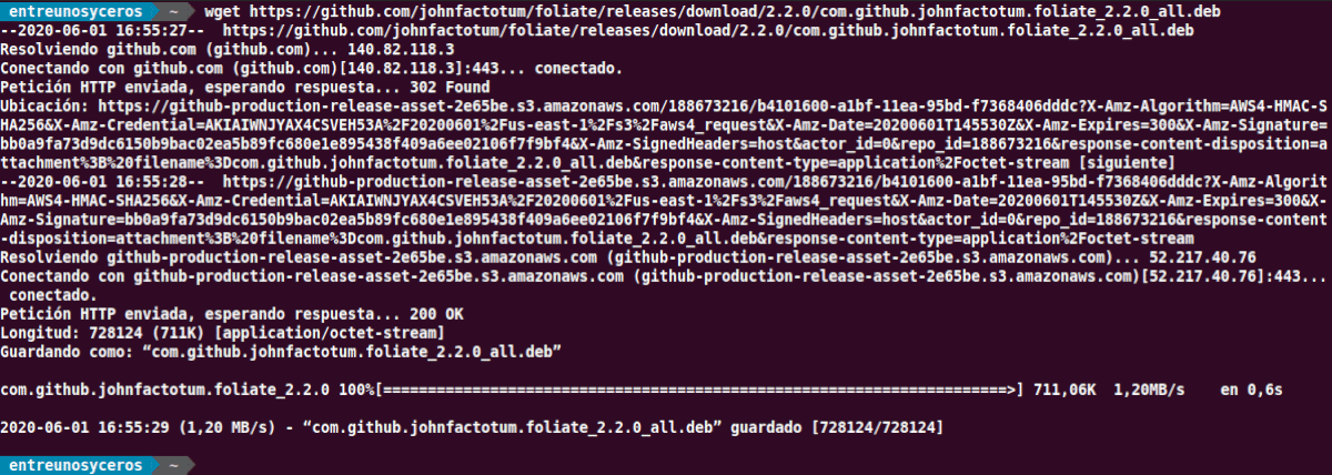 descarga el paquete .deb de Foliate 2.2.0