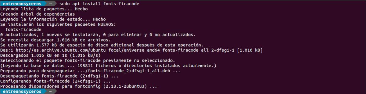instalar fonts fira code