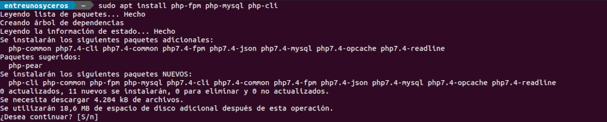 instalar php-fpm para LEMP