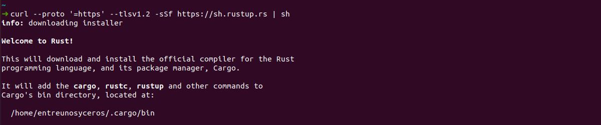 instalación de Rust
