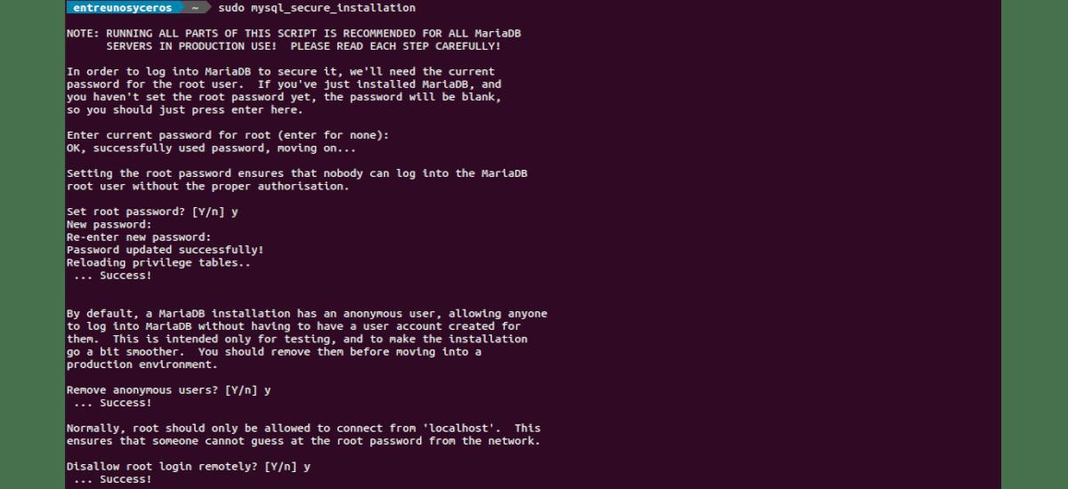 mysql_secure_installation para joomla