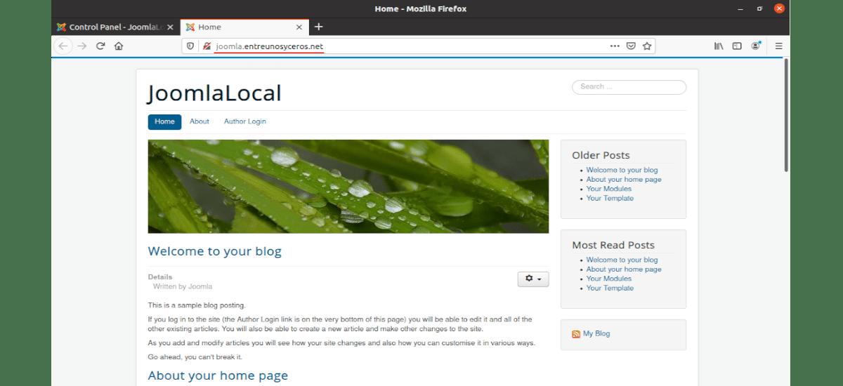weblocal con joomla y apache2