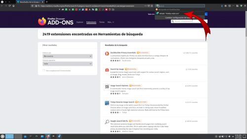 Añadir motor de búsqueda en Firefox 78