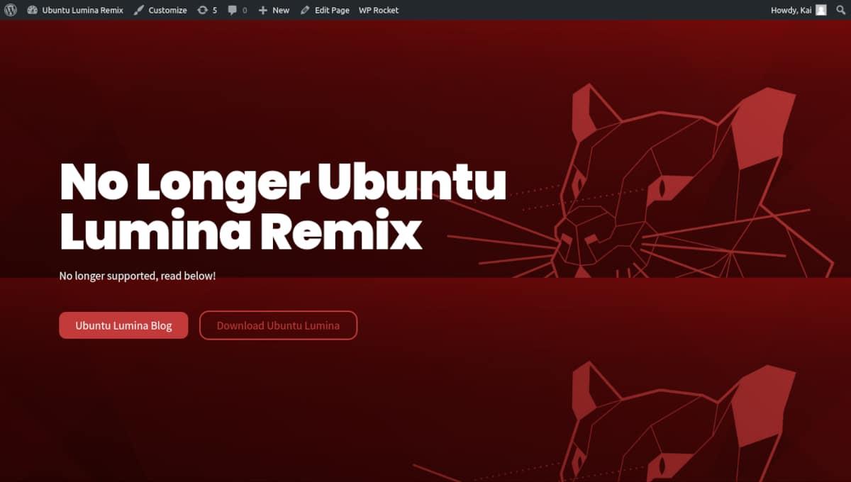Adios a Ubuntu Lumina