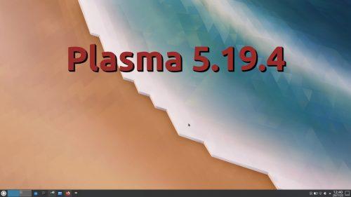 Plasma 5.19.4
