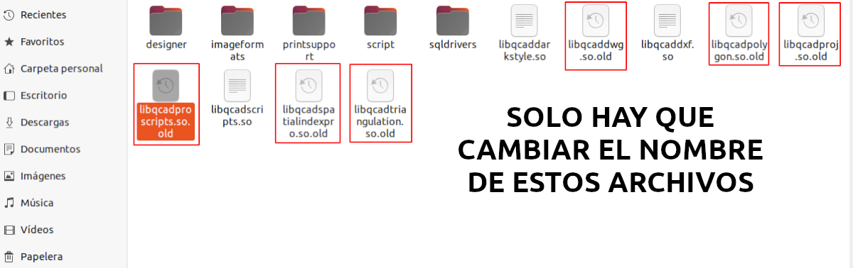 archivos a modificar