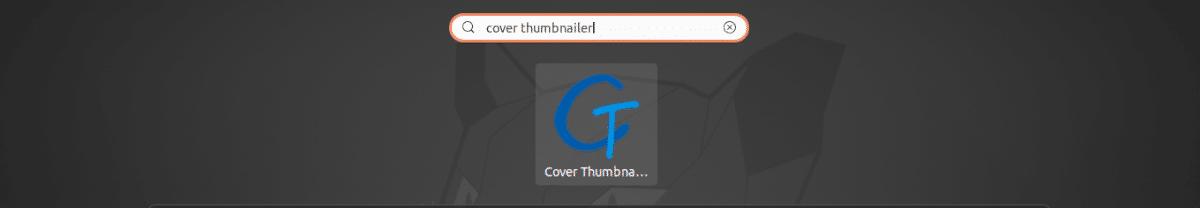 lanzador de Cover Thumbnailer