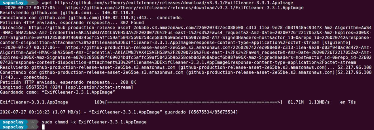 Descargar AppImage ExifCleaner