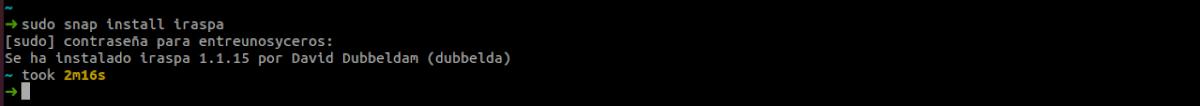 desinstalar iRASPA