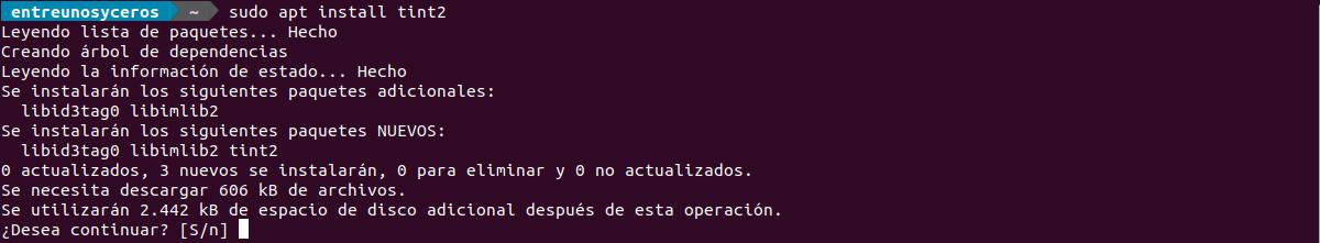 instalar tint2 en Ubuntu