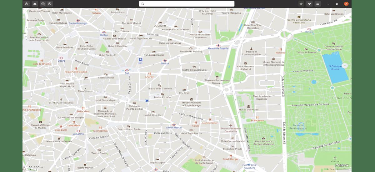localización de inicio en gnome maps
