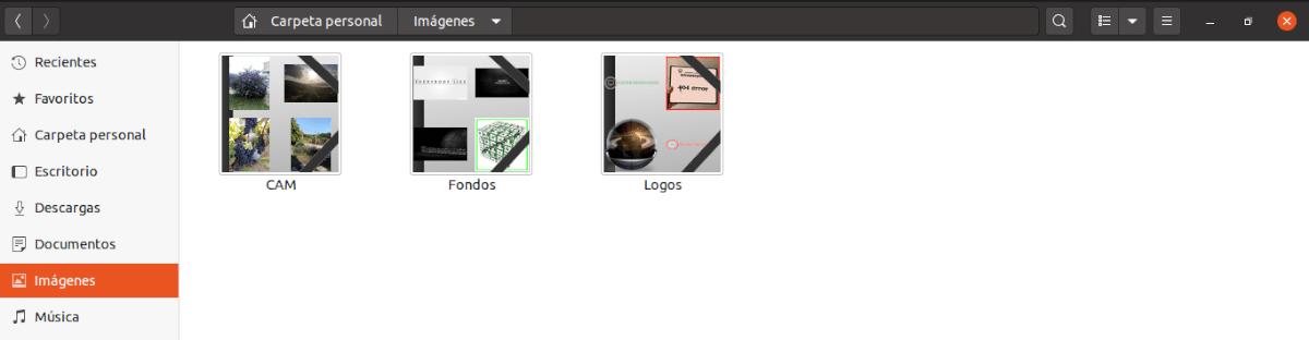 miniaturas de la carpeta imágenes