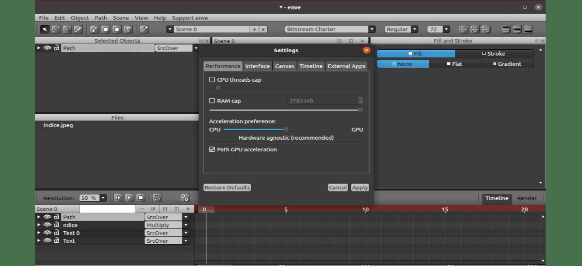 settings de proyecto