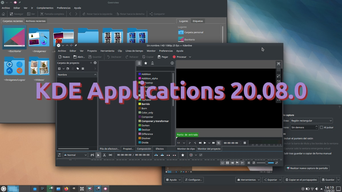 KDE Applications 20.08.0