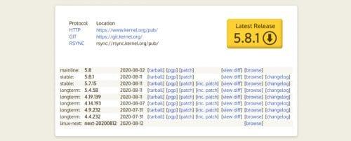 Linux 5.8.1 ya disponible