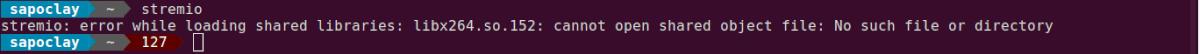 error librería libx264