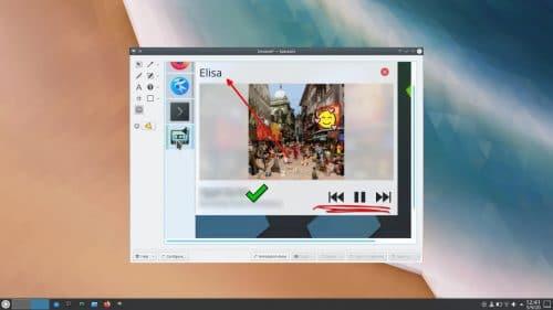 Anotaciones de Spectacle en KDE Applications 20.12