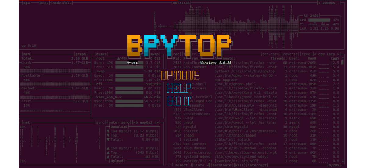 about bpytop