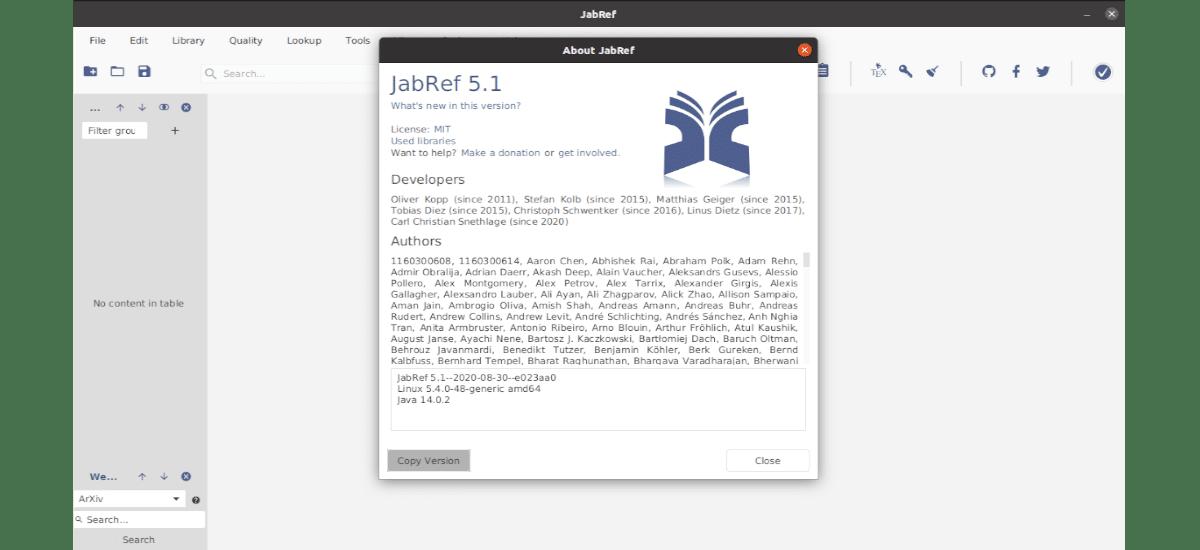 about JabRef