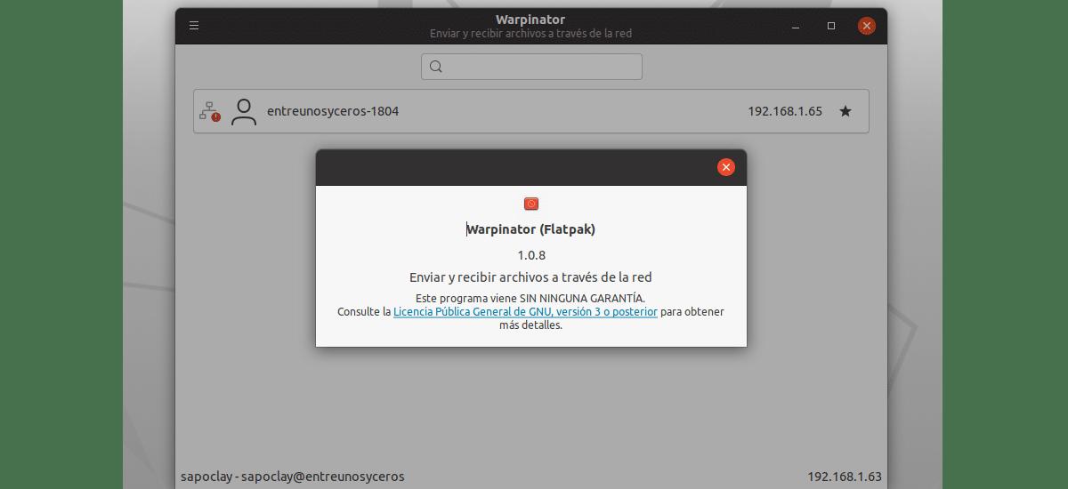 about warpinator flatpak