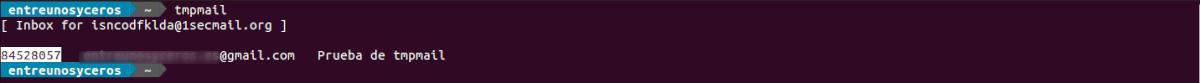 comprobación del buzón de entrada de tmpmail